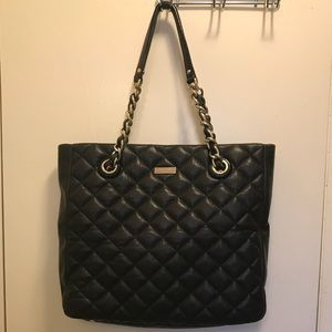 Kate Spade New York Black Quilted Leather Tote